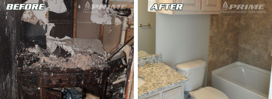 Before and After Bathroom Fire